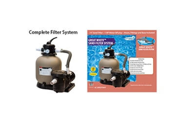 1 HP Sand Filter System